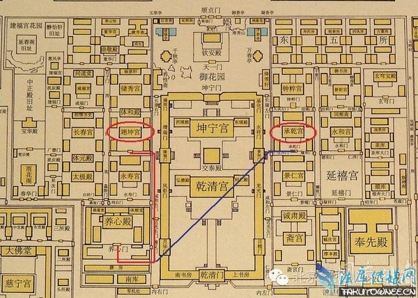 故宫手绘地图高清