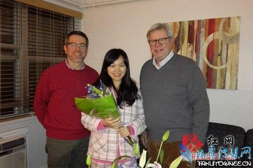 湖南女生感动美国 最美留学生诠释英雄