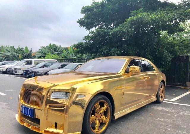 黄金劳斯莱斯是用纯金打造的吗 价值多少