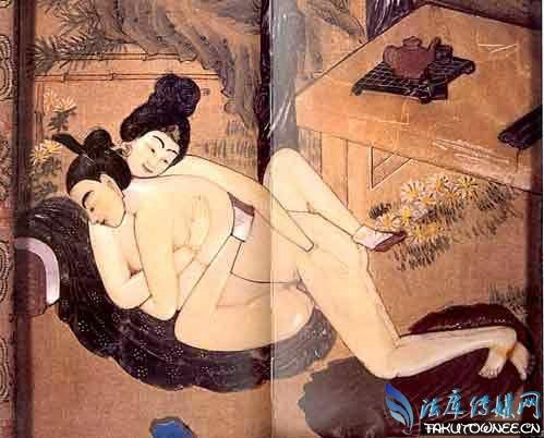 手绘夜晚古代美女