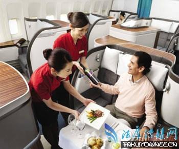 """空姐飞机上提供""""特殊服务"""",飞机头等舱内部实拍图片"""