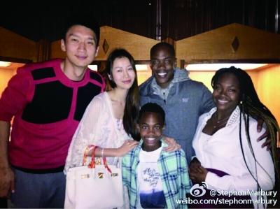 马布里妻子女儿住中国,马布里女儿的照片大图