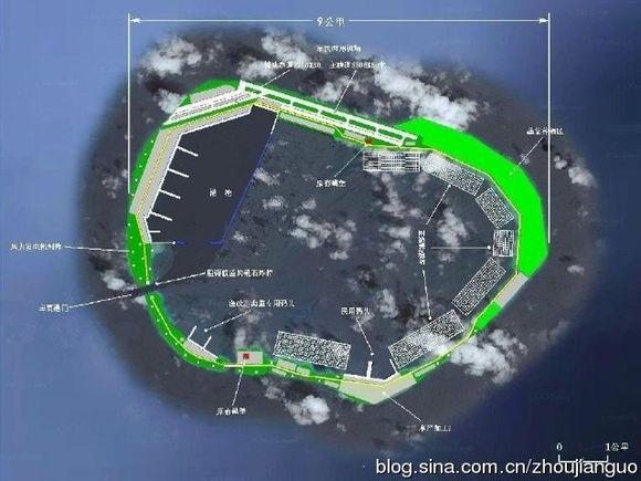 南沙最适合填海造陆的岛礁,美济礁最新卫星图